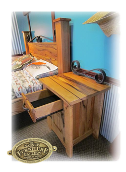 Two Oceans Marri Bedroom Bedside Table with open drawer
