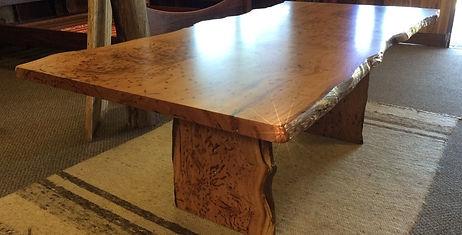 Natural edge Blackbutt slab table