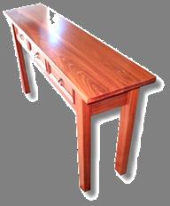 Jarrah 3 Drawer Hall Table3