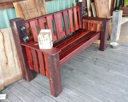 Beyond the Bridges park bench A