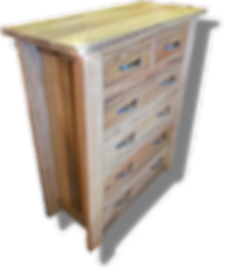 Marri chest of drawers.