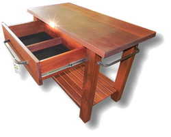 Jarrah Slab Top Kitchen Butchers Block3