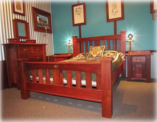 """Geographe"" Jarrah Bedroom Setting"