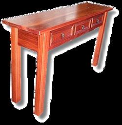 Jarrah 3 Drawer Hall Table2