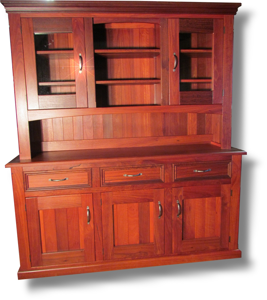 Jarrah dresser 1800 full set 1