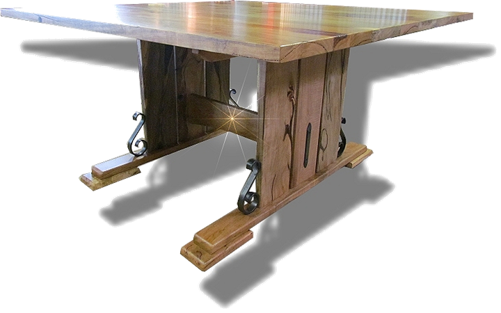 The Seacliffe ~ Square Marri pedestal table
