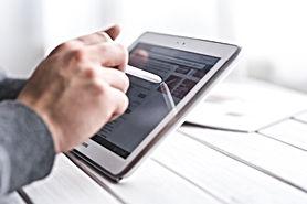 Man Using Smart Tablet