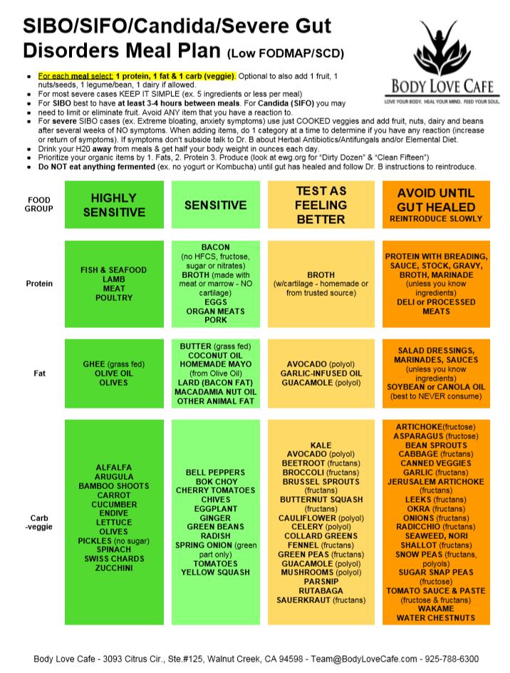 Candida intestinal y dieta
