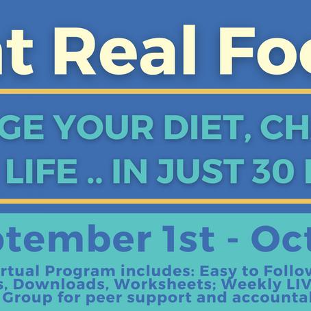 (VIDEO) Eat Real Food Program