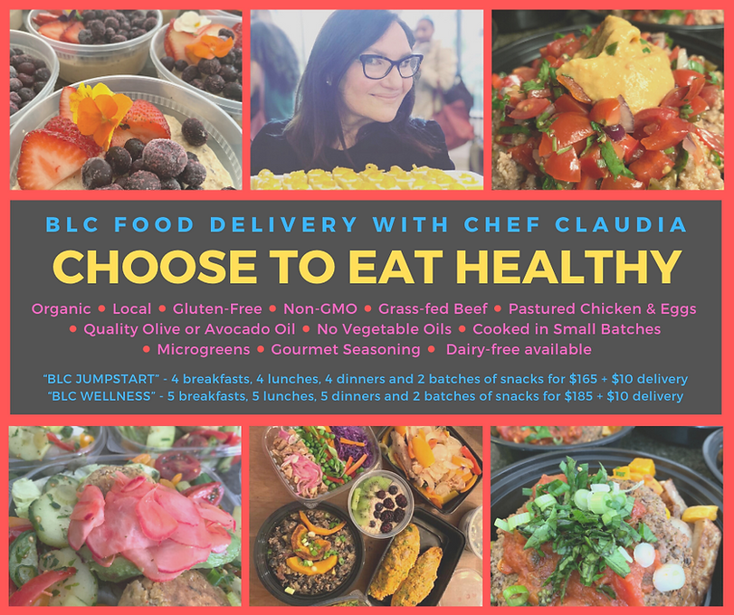 BLC Food Delivery with Chef Claudia organic gluten-free