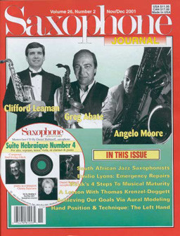 Saxophone Journal 2001