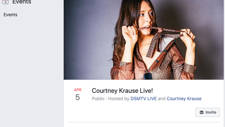 Online show this Sunday: Courtney Krause