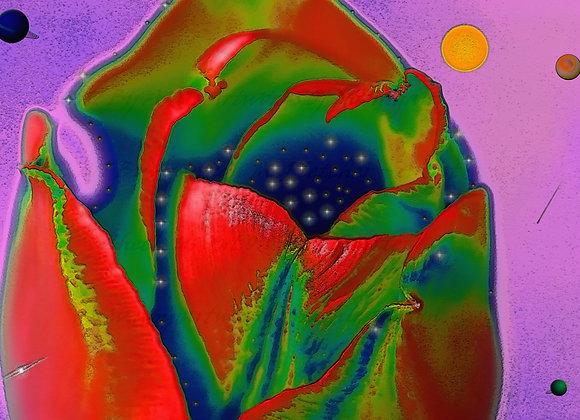 AMP Artworks of Michigan Ladies Floral Design Tee
