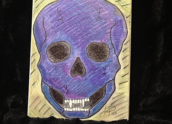 """Original Skull Image Canvas 8"""" X 10"""""""