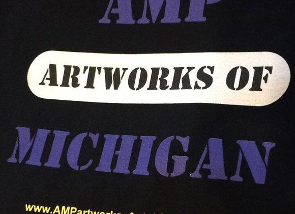 AMP Artworks of Michigan Log Tee (With Back Design #1)