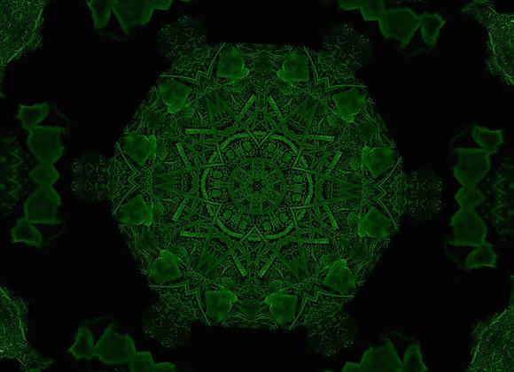 """Artworks of Michigan Original """"Mandala Style"""" Night Vision Design TANK OR TEE"""
