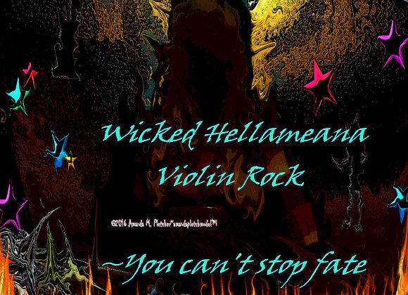 "Violin Rock ""Wicked Hellameana"" Ladies Thin Strap Rock Tank Top"