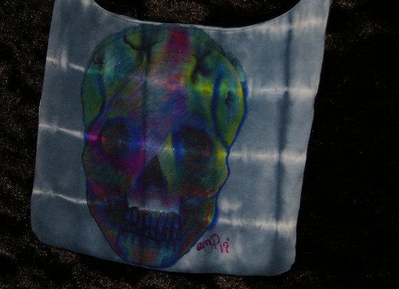 Colorful Skull Crossover Bag Small - Art Splash & Tie Dye