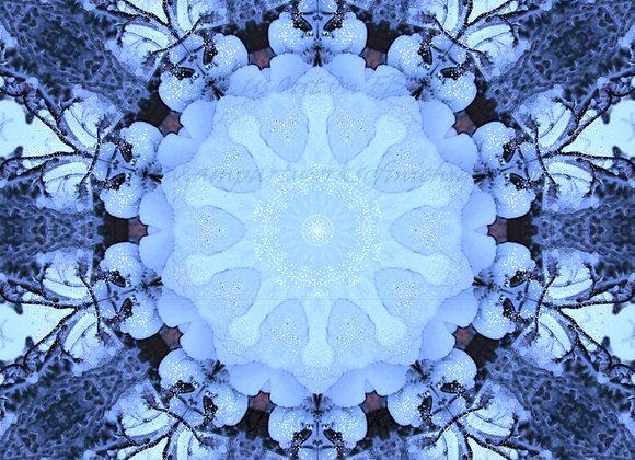 Glittery Snow Mandala Art Image By Amanda M. Pletcher