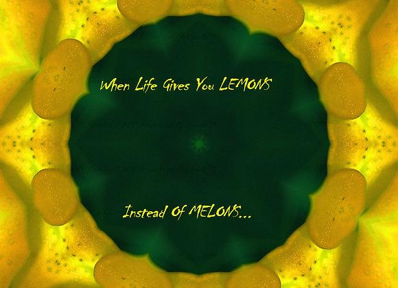 Lemons VS Melons Digital Art Photography Image (SINGLE) By Amanda M. Pletcher