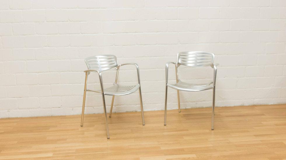 2er Set Toledo Aluminium Stühle von Jorge Pensi für Amat 3
