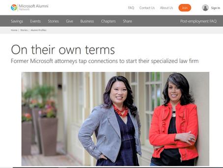 Joyce & Zohra featured on Microsoft Alumni Network