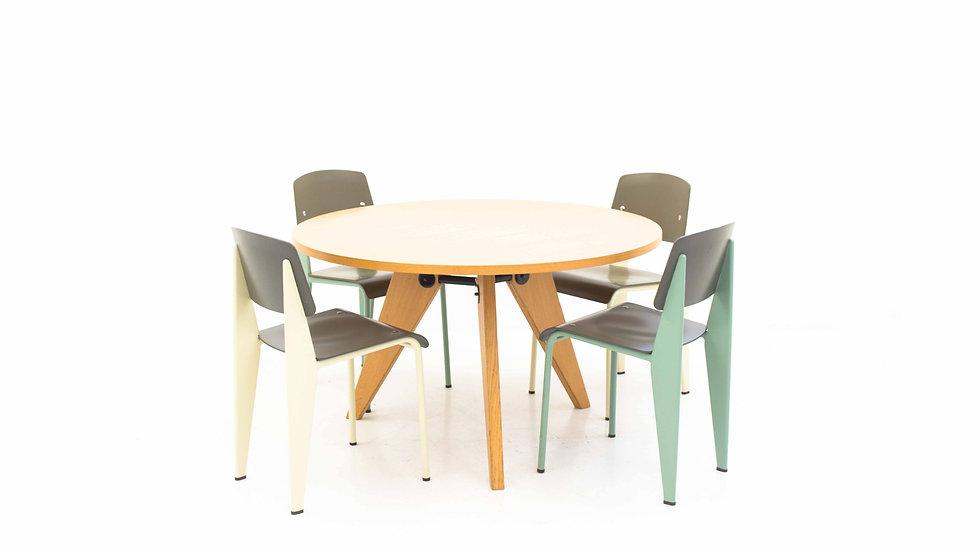 Jean Prouvé Guéridon Table von Vitra 120 cm