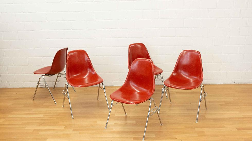 Eames Fiberglas Sidechairs von Vitra / Herman Miller