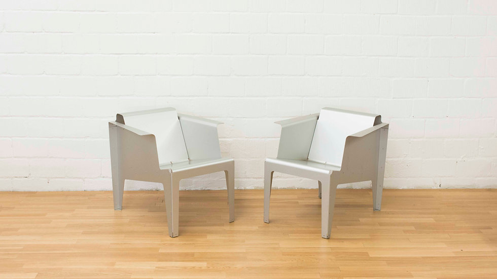 Alfredo Häberli Aluminium Lounge Sessel von Trunz