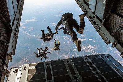 Springen van het vliegtuig