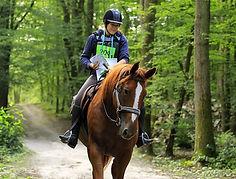 Canelle Wild Horse à cheval en TREC sur le POR