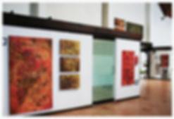 Bild einer Ausstellung von Angelika Geiger in Mexiko