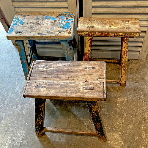 Rustic Elm stools & benches from £90