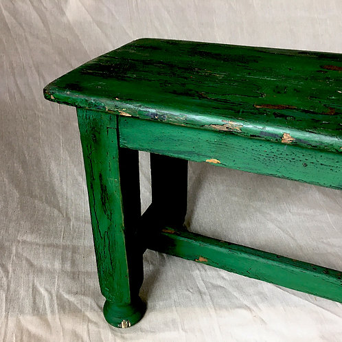 Large green bench
