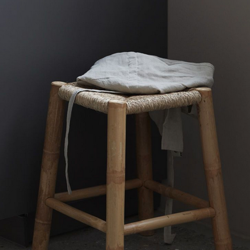 Bamboo and seagrass stool