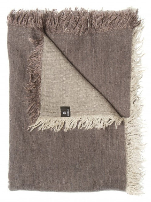 Merlin Linen Throw - Mulberry