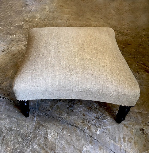 Re-upholstered French Foot stool