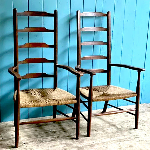 Ladder-back chairs