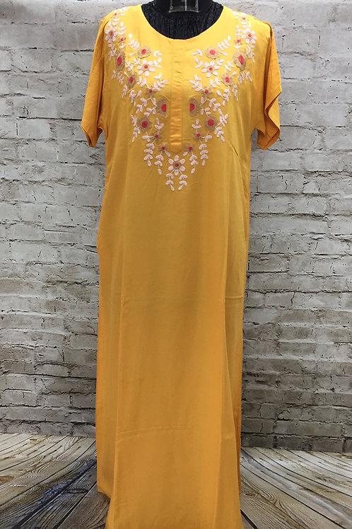 Maxi,Night Dress,Nighty,Village Shop,Embroidered