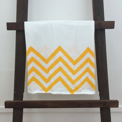 Printed country towel - Yellow