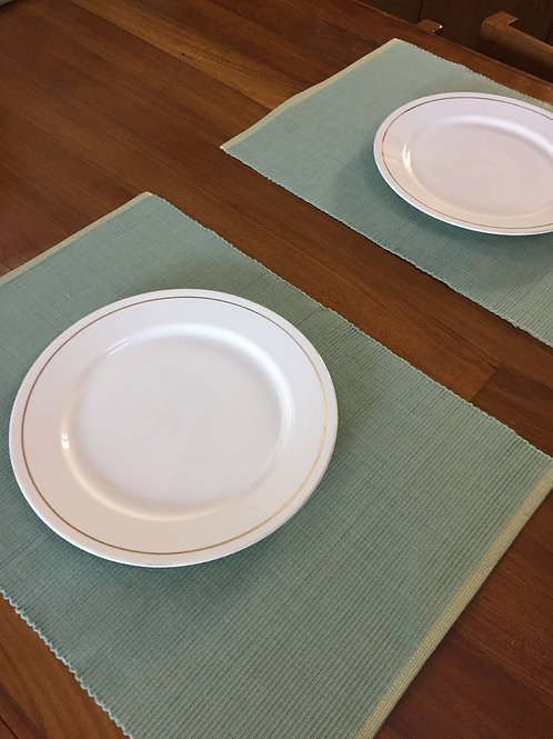 Reversible Table Mats -Yellow/Green -Set of 6