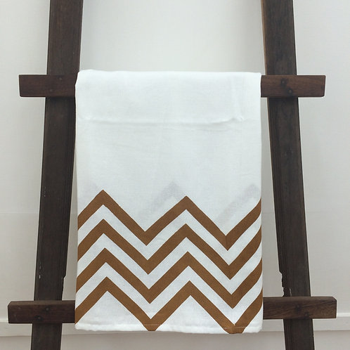 Printed country towel - Brown