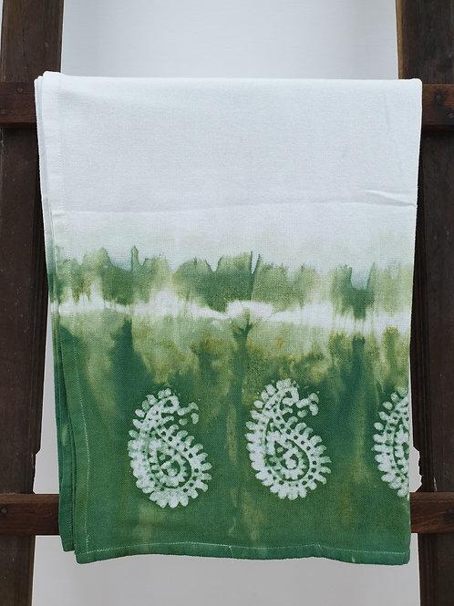 Batik print country towel