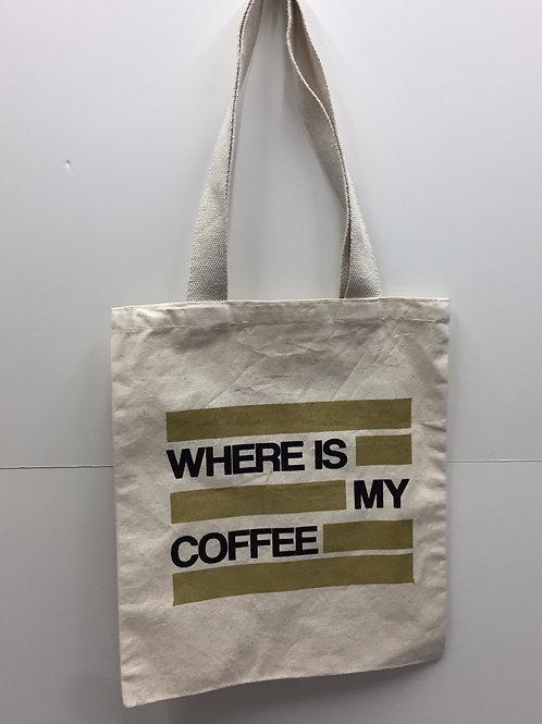 Printed canvas tote bag