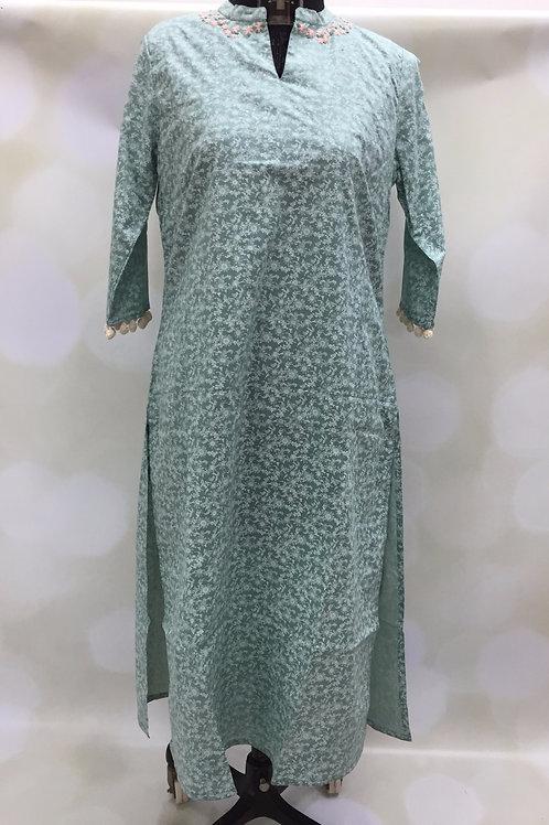 Ladies Kurta,Printed Kurta,Village Shop,Cotton Kurta,embroidered