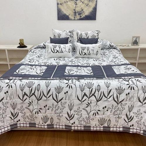 Quilt Bed Cover Set - Floral Print