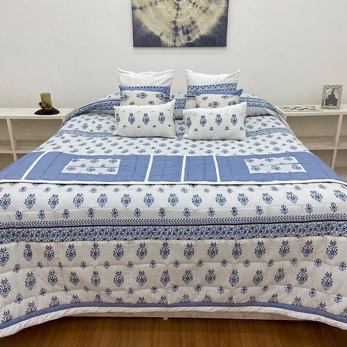 Quilt Bed Cover Set - Floral Print