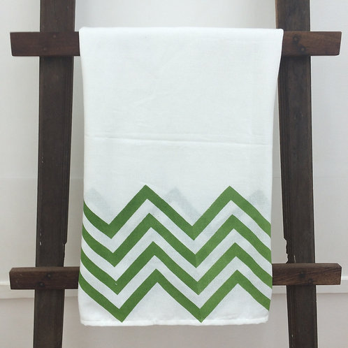 Printed country towel - Green