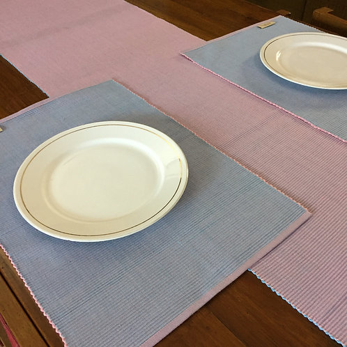 Woven cotton table runner