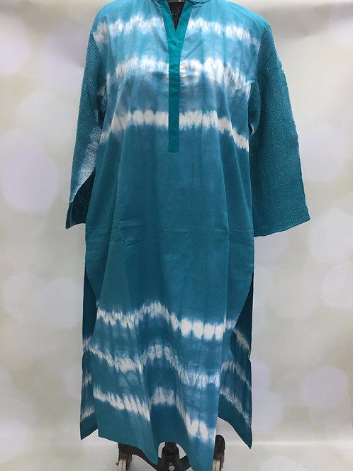 Ladies Kurta - Tie Dye Green